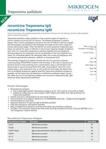 recomLine Treponema IgG recomLine Treponema IgM ... - Mikrogen