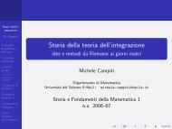 Storia della teoria dell'integrazione - idee e metodi da ... - Campiti