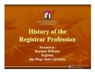 History of the History of the Registrar Profession - PACRAO