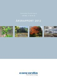 Årsrapport 2012 Concordia Forsikring as.