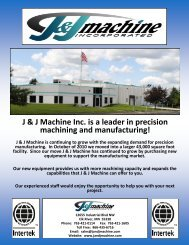 J & J Machine Inc. is a leader in precision machining and ...