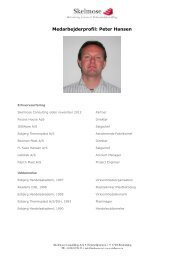 Læs Peter Hansens profil... - Skelmose Consulting