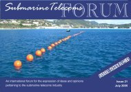 Issue 21 July 2005 - Submarine Telecoms Forum