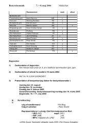 Bestyrelsesmøde 7. + 8. maj 2004 Middelfart - SSP Samrådet