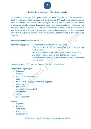 La séquence - Académie de Grenoble