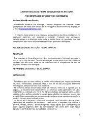 1 A IMPORTÂNCIA DAS FIBRAS INTELIGENTES NA NATAÇÃO ...