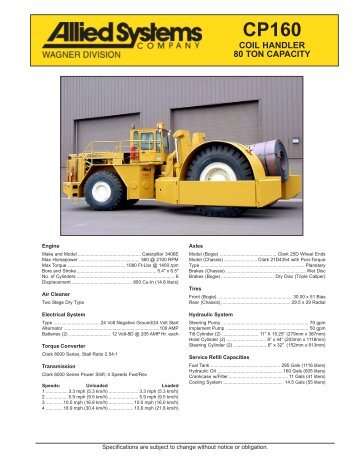 COIL HANDLER 80 TON CAPACITY - Allied Systems Company