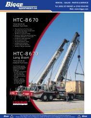 Link-Belt HTC-8670 - 70-ton - Bigge Crane and Rigging Co.
