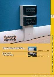 Dati tecnici. Technical data. box - Canalplast