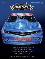 CHASSIS COMPONENTS ROLL BARS ... - Alston Race Cars