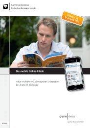 Mobile Online-Filiale - geno kom Werbeagentur GmbH