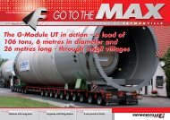 The G-Module UT in action – a load of 106 tons, 6 ... - Faymonville