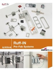 Cooper B-Line - Ruff-IN Pre-Fab Systems ... - Cooper Industries