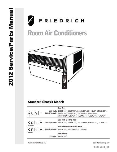 Standard Chassis Service & Parts Manual - Friedrich Air ConditioningYumpu