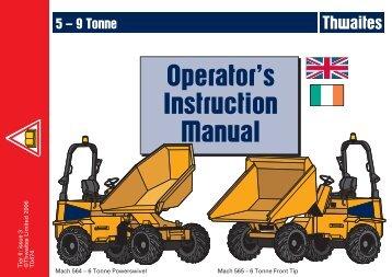 490-569 - 5-9 Tonne - Operator Manuals EU.pmd - Hire One