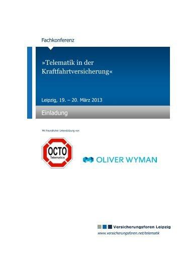 Telematik in der Kraftfahrtversicherung« - Kinast & Partner ...