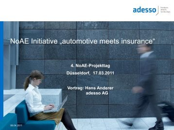 Automotive meets Insurance - NoAE