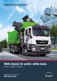 MAN chassis for public-utility tasks. - MAN Truck & Bus