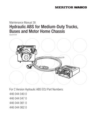 Anti lock braking systems abs for trucks meritor wabco hydraulic abs for medium duty trucks buses and meritor wabco sciox Choice Image