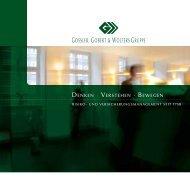 Imagebroschüre der Gossler, Gobert & Wolters Gruppe - Perspektive ...