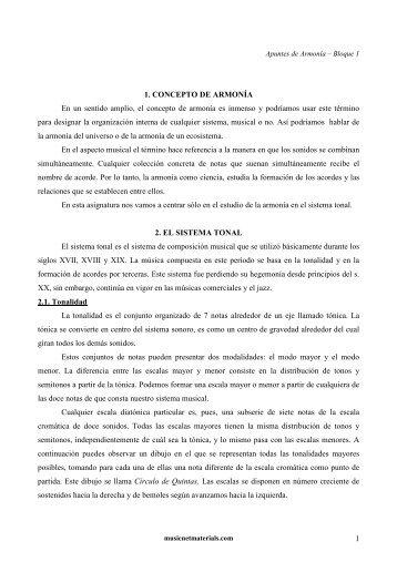 Apuntes de Armonía Bloque 1 - musicnetmaterials