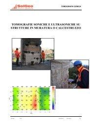 tomografie soniche e ultrasoniche su strutture in muratura o ... - Solgeo