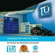 Firmenbroschüre als PDF - Technische Überwachung Taunus