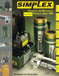 HYDRAULIC AND MECHANICAL PRODUCTS SINCE 1899
