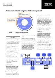 Prozessindustrialisierung im Schadenmanagement - IBM