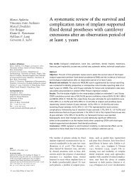 A systematic review of the survival and complication rates of implant ...