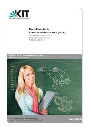 Modulhandbuch (lang) - Fakultät für Wirtschaftswissenschaften - KIT