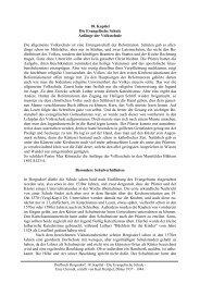 18. Kapitel Die Evangelische Schule Anfänge der Volksschule Die ...