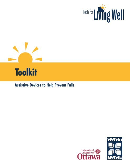 Tools for Living Well Toolkit - Canadian Association of Occupational ...