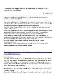 Smoothies - Die besten Smoothie Rezepte - leckere ... - pdf Free