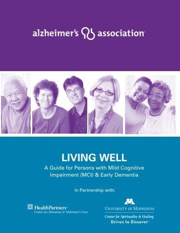 Living well - alzheimer's association - Center for Spirituality and ...