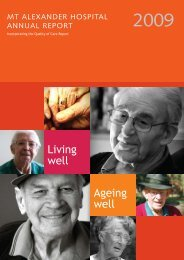 Living well Ageing well - Castlemaine Health