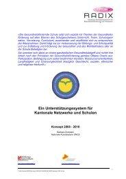 SNGS Konzept 2008 - Bildung und Gesundheit