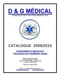 Télécharger le Catalogue d'équipements (PDF) - Para Secours