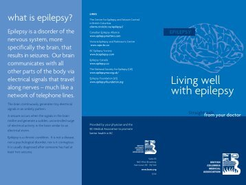Living well with epilepsy - British Columbia Medical Association