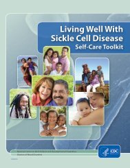 Living Well With Sickle Cell Disease Self-Care Toolkit - Centers for ...