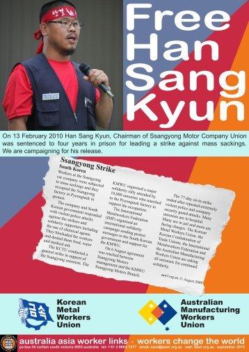 Free Han Sang Kyun - Australia Asia Worker Links