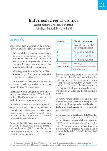 21. Enfermedad renal crónica - Asociación Española de Pediatría