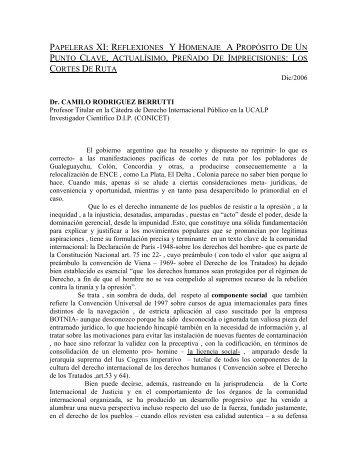 Los Cortes De Ruta - Derecho Internacional Publico