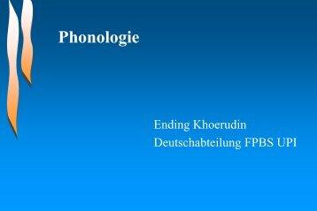 Phonologie Was tun wir, um Laute zu erkennen? - File UPI