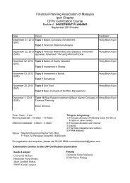 M4 Sept 2013 Timetable - Financial Planning Association of Malaysia