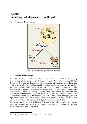 Phonetik und Phonologie - Veranstaltungsskript