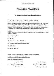 Phonetik / Phonologie - Germanistik