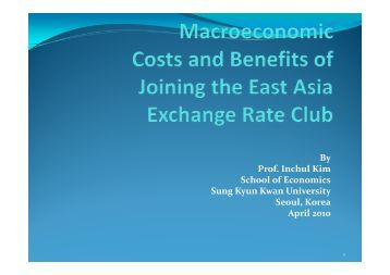 By Prof Inchul Kim Prof. Inchul Kim School of Economics Sung Kyun ...