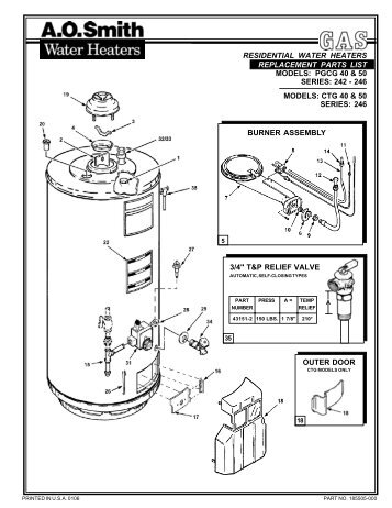 AO SMITH 40 GALLON ELECTRIC WATER HEATER WIRING DIAGRAM ... on