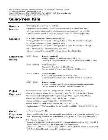 Sung-Yeol Kim - Imaging, Robotics, and Intelligent Systems ...